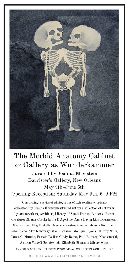 Morbid Anatomy: Morbid Anatomy Cabinet Exhibition and Opening, May ...