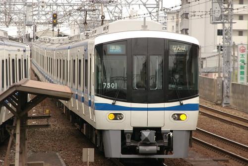 Osaka Prefectural Urban Development7000series in Imamiyaebisu,Osaka,Osaka,Japan 2009/5/4
