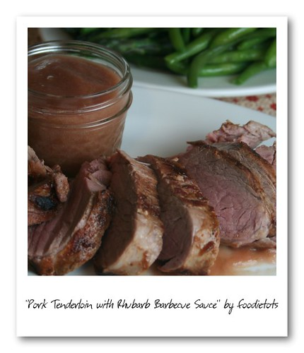 rhubarb barbecue sauce pork tenderloin