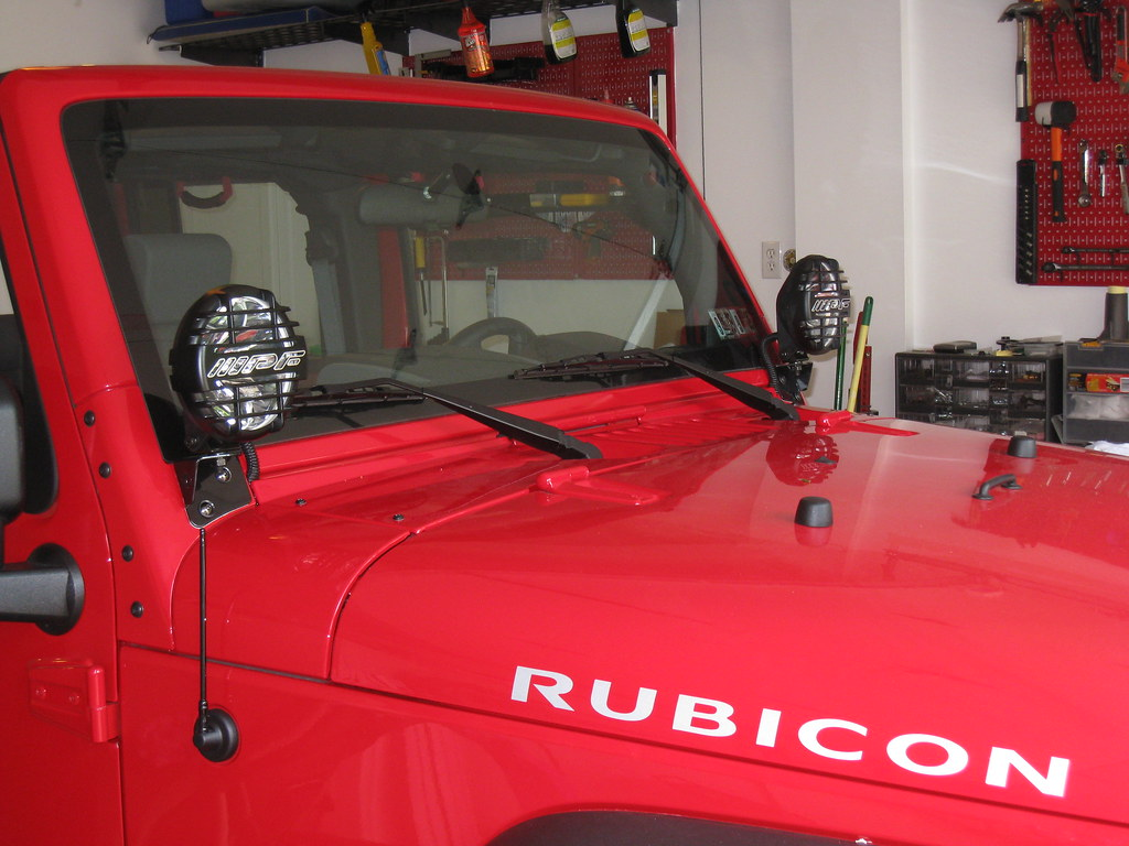 Windshield Lights Show Me What You Got Page 28 Jeep Tj Wiring I Think Ipf 968s Mounted On Kc Brackets The Only Complaint Was Switch That Ipfs Came With Rid Of It And Used Style Rocker Much