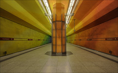 Candidplatz 2 - 3 (timo.frey) Tags: color lines station train canon germany subway munich mnchen bayern deutschland bavaria rainbow europa europe metro zug ubahn regenbogen haltestelle farben untergrund linien blueribbonwinner sigma1020 unterground mywinners abigfave canon40d rubyphotographer timofrey