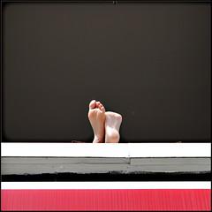 Summertime 2.0 (Maerten Prins) Tags: red sun feet window nijmegen relax toes open expo stripe chill explored