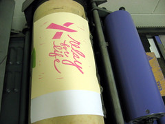 Relay for Life Print on the Press