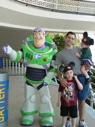 The boys with Buzz Lightyear