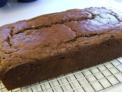 Chocolate Loaf Cake with White Chocolate Glaze