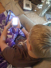 Reading Treasure Island on the iTouch