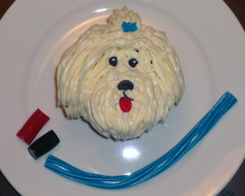 Maltese Puppy Cupcake Easy Cake Decoration Ideas Hello Cupcake