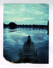 (Kate Pulley) Tags: summer lake girl polaroid michigan shelby cousin 320 packfilm 625am iduv notamanda