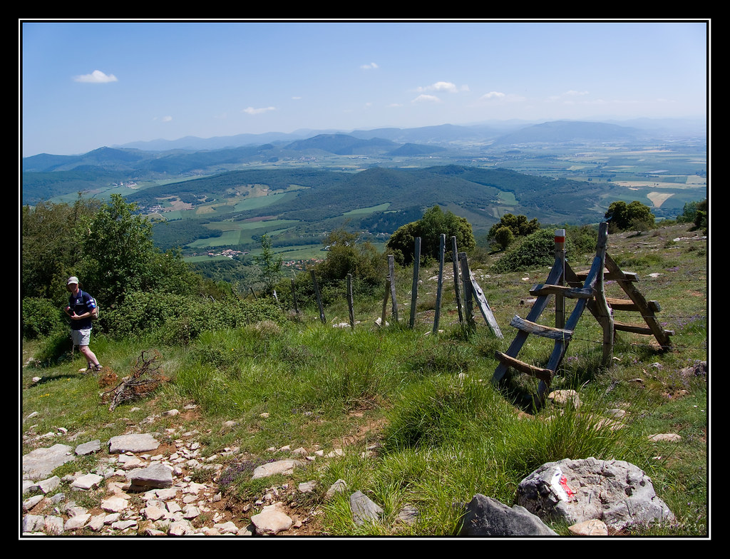 Bajando del Mortxe a Saldise (Navarra)