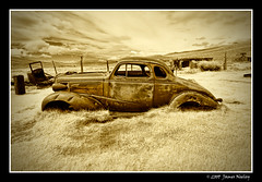 Low Rider (James Neeley) Tags: california ir infrared ghosttown bodie oldcar mywinners superaplus aplusphoto jamesneeley convertedir convertedinfraredcamera mountainhighworkshops