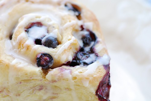 mom's blueberry sweet rolls