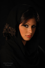 Gethsy (Ashraf Khunduqji) Tags: portrait girl beautiful scarf model nikon gulf gorgeous flash trinity tradition charming abaya d3 doha qatar 70200mm ashraf bowens memorycornerportraits khunduqji gethsy