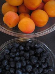 Apricots and blueberries