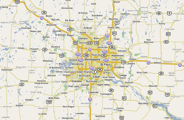 Map of Minneapolis-St. Paul