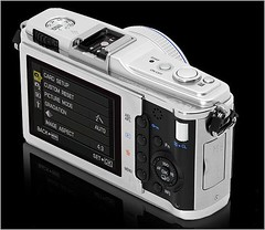 Olympus E-P1 back panel and controls