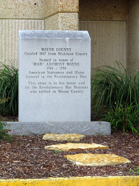Mad Wayne County monument
