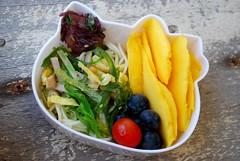 hk somen bento (sherimiya ♥) Tags: hello ocean tomato hawaii salad kitty poke mango bento ahi blueberries obento somen sherimiya