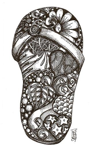 doodled flipflop #2
