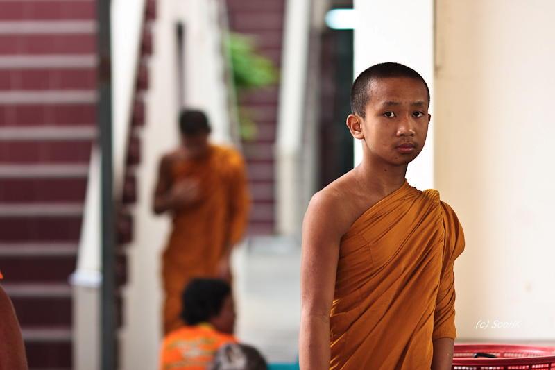 Monk Stares @ Bangkok, Thailand