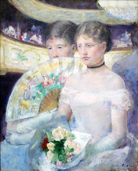 Mary Cassatt, The Loge, 1882