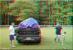 Air Bounce - Eli's Birthday (starg82343) Tags: birthday family boys zach youth children outdoors 3d kid child olivia packing brian young woody anaglyph ethan stereo hauling wallace loading squeezing deflating airbounce