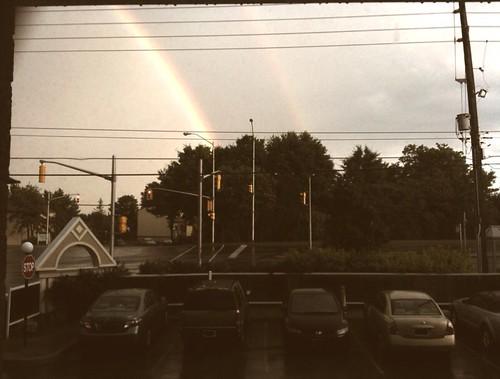 sun + rain = rainbow