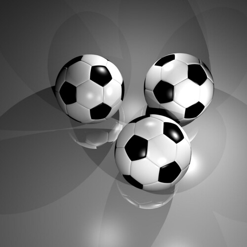 Soccerball rendered by Cheetah3D