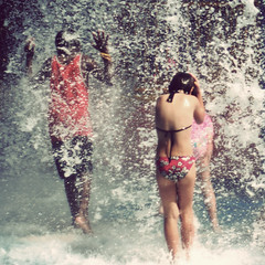 Shower (Kerrie McSnap) Tags: water kids children square nikon mood child atmosphere splash townsville waterpark d60