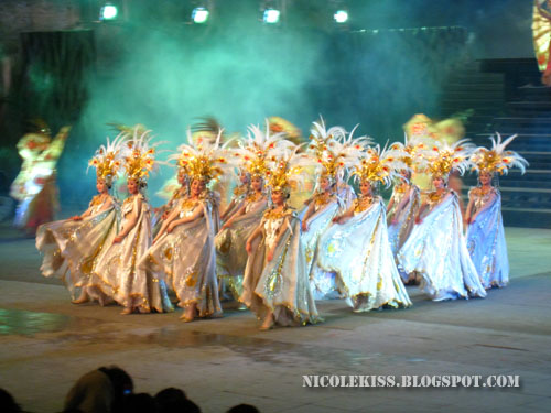 white butterfly dancers