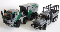 Truck updates (Aleksander Stein) Tags: 6x6 truck steering lego suspension military transport ctl ural 8x8 ndc faran efaf