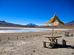 Bolivia S90-100530-055 (Kelly Cheng) Tags: travel blue color colour tourism southamerica nature sunshine horizontal umbrella landscape daylight colorful day outdoor vivid sunny bolivia bluesky nobody nopeople colourful copyspace altiplano traveldestinations pickbykc