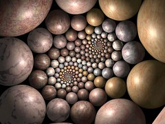 Doyle stones (fdecomite) Tags: circle spiral packing sphere math doyle povray