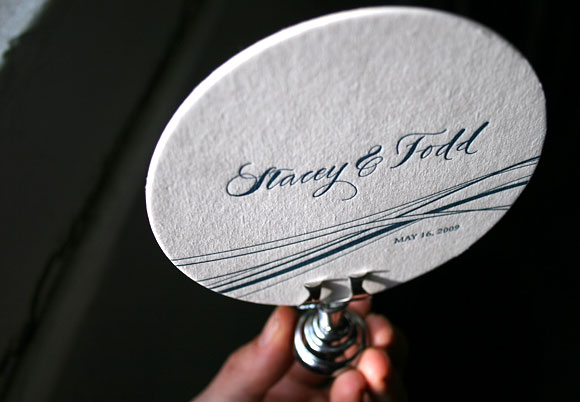 Letterpress coasters with calligraphy - by Bella Figura