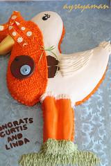 Baby Shower Stork Cake