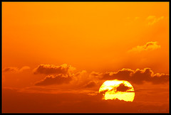 sunset (Casey Veranth) Tags: sunset orange sun clouds evening glow sunday tropical caribbean stmaarten tropics sxm mahobeach otw laclassenonacqua goldstaraward