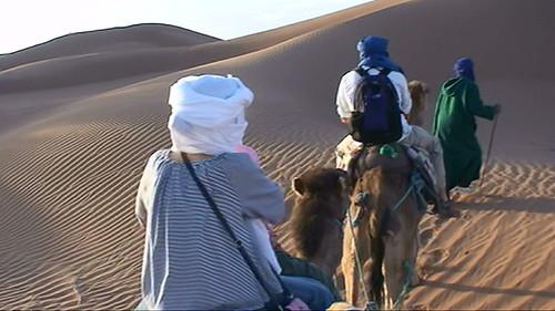 Camel Trek Across Dunes