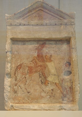 Painted Limestone Funerary Slab with a Man Controlling a Rearing Horse (griannan) Tags: 2009 funerary loh metmuseum greekandromangalleries opalartseekers4 WLA:org=metmuseum WLA:cat=1 WLA:team=opalartseekers4