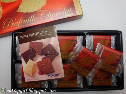 Royce' prafeuille chocolat inside