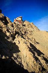 Ladakh-401 (Kelly Cheng) Tags: travel india color colour building heritage tourism vertical architecture landscape temple daylight colorful asia outdoor religion culture vivid sunny bluesky monastery tibetan colourful copyspace himalaya leh himalayas jk ladakh gompa subcontinent jammukashmir lehpalace namgyaltsemo kashmirjammu