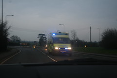 Essex Ambulance Ford Transit (EU05 ZKV) on a shout (TheEssexTech) Tags: blue ford lights run ambulance transit essex siren eu05zkv