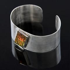 Ammolite & Sterling Silver (beaucoup de bijoux) Tags: silver handmade jewelry sterling cuffs artisan ammolite beaucoupdebijoux projewelrypics