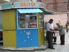 Albania, Durresi 2008, MM (art M*O*D*E*) Tags: life old city summer man shop newspaper alt sommer strasse daily stadt kiosk mann balkans albania 2008 magazin leben zeitung zigaretten balkan gazeta alltag albanien durresi