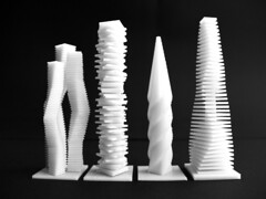 Three Towers, Squares, Screwdriver, Flatworm (mas0809) Tags: architecture computer print 3d model processing script eth parametric caad