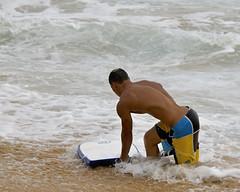 Bodybuilder Bodyboarder (ScottS101) Tags: man male beach muscles hawaii athletic surf oahu tan boardshorts sandys fit homme bodyboard bodysurfing bodyboarder