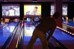 bowling with our buds today at Lucky Strike in Bellevue