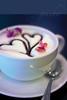 ...Helen..Geisha..Miss G...H.. (Lee_Bryan) Tags: coffee hearts petals bokeh froth hopeyoudontmind roseflavoured thanksforthebdayshotandwishes unlicenseduseofgeishaswatermarkjustforfun0