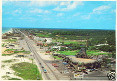 Jungleland and Front Beach Rd, Panama City Beach, Florida 1960's postcard (stevesobczuk) Tags: