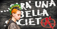 Bellezza e Anarchia (rogimmi) Tags: donna punk libertario anarchia giovane anarchico anarchismo acerchiata shelshapiro