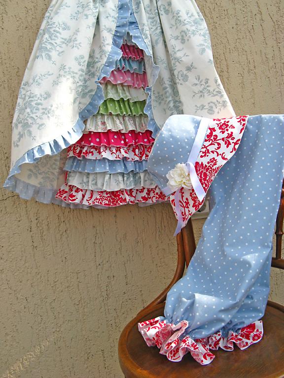 barefoot roses dress set