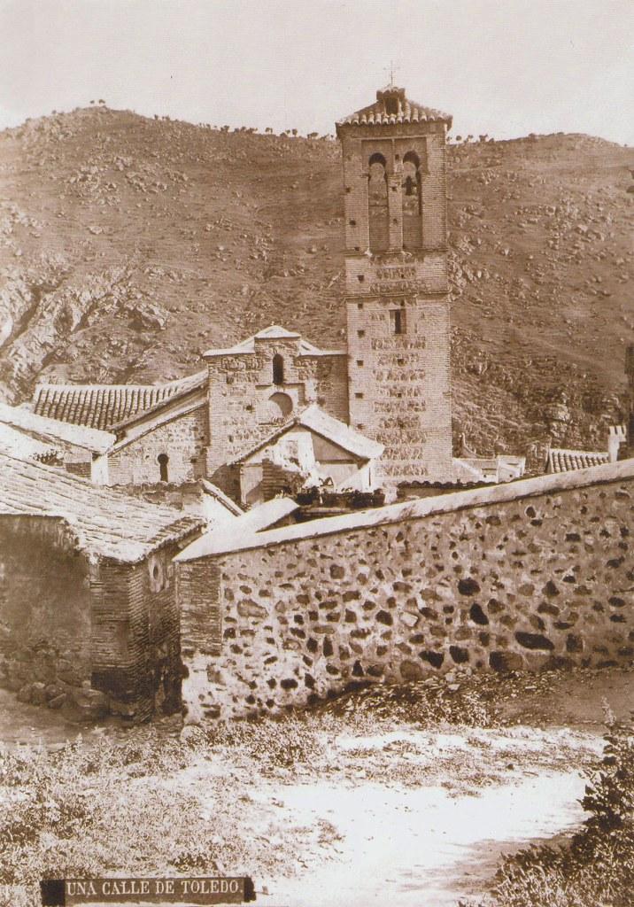 Iglesia de San Sebastián (Toledo) en el siglo XIX por Casiano Alguacil